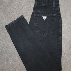 Vintage Guess Black Denim High-waist Jeans - Sz 31